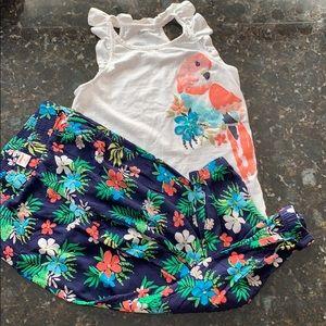 Gymboree girls matching shirt & pant set